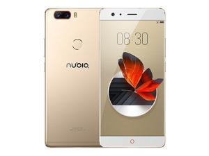 ZTE Nubia Z17 5.5 Inch 4G LTE Smartphone 6GB 64GB Dual Rear Cam 23.0MP + 12.0MP Snapdragon 835 Octa Core Android 7.1 NFC Fast Charge QC4+ Bass Sound - Gold