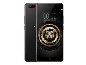 ZTE Nubia Z17 5.5 Inch 4G LTE Smartphone 6GB 128GB Dual Rear Cam 23.0MP + 12.0MP Snapdragon 835 Octa Core Android 7.1 NFC Fast Charge QC4+ Bass Sound - Black Gold