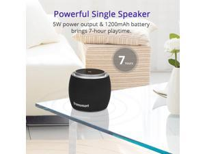 Tronsmart JAZZ Mini 5W Portable Bluetooth Speaker Wireless Bluetooth 4.2 Touch Control Speaker with Deep Bass LED Lights - Black