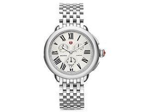 Michele Serein Chronograph Diamond Stainless Steel Ladies Watch MWW21A000019