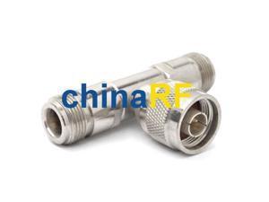 N adapter N Plug to 2 Jack 3 way splitter long