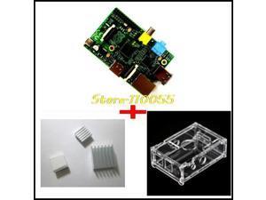 3 IN 1 Rev 2.0 512 ARM Raspberry Pi Project Board Model B + 3 heat sinks + 1 boa