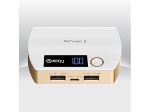 MiiKey MiiPower2 Power Bank Dual Charger 5200 mAh - Gold