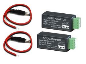 WennoW 24V AC To 12V DC Convertor Adaptor and DC 2.1mm For CCTV Security Camera System
