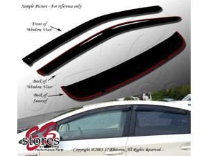 Sunroof & Window Visor Rain Guard Deflector Outside Mount 3 Pcs Set Fits Pontiac Montana 1997-2004