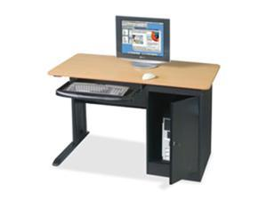 Balt- Inc. BLT89843 Locking Computer Workstation- 48in.x24in.x28-.75in.- Teak