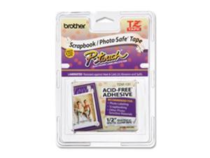 Tz Photo-Safe Tape Cartridge For P-Touch Labelers, 1/2W, Black On Whit