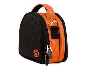 VanGoddy Orange Mini Laurel Camera Case for Digital Cameras with 16 GB SD Memory Card