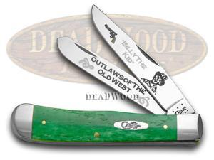 CASE XX Billy The Kid Outlaw of Old West Green Bone 1/500 Trapper Pocket Knives