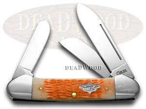 CASE XX Salmon Vintage Gunboat Canoe 1/100 Pocket Knife