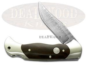 BOKER TREE BRAND Damascus African Ebony Lockblade Knife