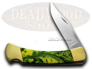 BUCK 110 Custom Bird of Paradise Corelon Folding Hunter Pocket Knives