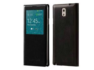 S-View Wallet Cover Folio Case for Samsung Galaxy Note 3 - Black