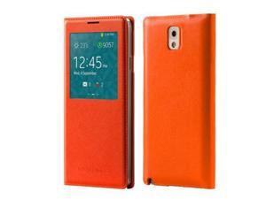 S-View Wallet Cover Folio Case for Samsung Galaxy Note 3 - Orange