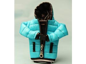Cute Warm Christmas Gift Present Zipper Down Jacket Down Coat Down Feather Cloth Back Soft Protective Case Cover Shell Skin ...