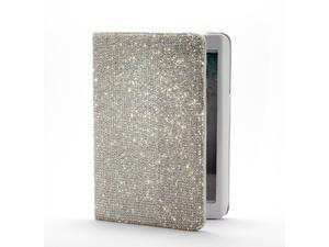 Bling Bling 360 Degrees Rotatable Inlay Swarovski Element Crystal Stand Leather Case for Ipad Mini