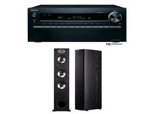 Onkyo TX-NR828 7.2-Channel Wireless Network A/V Receiver Plus a Pair of Polk Audio TSx 440T Floorstanding Speakers