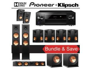 Klipsch Reference Premiere RP-280FA 7.2.2 Dolby Atmos Home Theater System with Pioneer Elite SC-LX701 9.2-Ch Network AV Receiver
