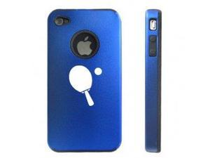 Apple iPhone 4 4S 4 Blue D3998 Aluminum & Silicone Case Cover Ping Pong Table Tennis