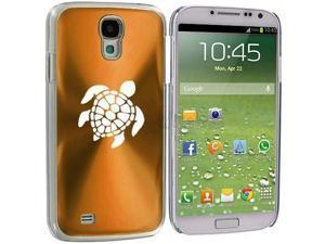 Gold Samsung Galaxy S4 S IV i9500 Aluminum Plated Hard Back Case Cover KK697 Sea Turtle