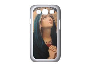 Samsung Galaxy S III S3 White KW215 Hard Back Case Cover Color Antique Catholic Icon Virgin Mary Praying