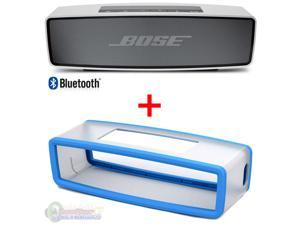 Bose SoundLink Mini Bluetooth Wireless Speaker and Blue Soft Silicon Cover