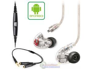 Shure SE846 Quad Driver Earphones w/ Y Cable & Music Phone Cable for Droid Phones