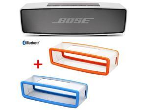 Bose SoundLink Mini Bluetooth Wireless Speaker w/ Blue and Orange Soft Silicon Covers