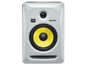 KRK RP6G3W-NA Rokit 6 Generation 3 Powered Studio Monitor, White, Single Speaker