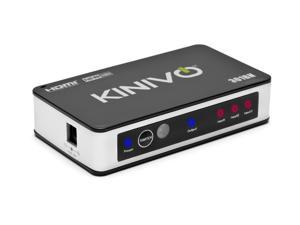 Kinivo 301BN Premium 3 port High speed HDMI switch with IR wireless remote and AC Power adapter - supports 3D, 1080p