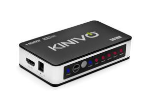 Kinivo 501BN Premium 5 port High speed HDMI switch with IR wireless remote and AC Power adapter - supports 3D, 1080p