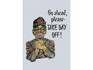 Buyenlarge - 01034-7CG28 - Go Ahead Please - TAKE DAY OFF 28x42 Giclee on Canvas