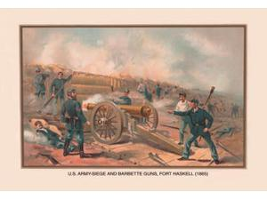 Buyenlarge - 02514-XCG28 - Siege and Barbette Guns Fort Haskell 1865 28x42 Giclee on Canvas