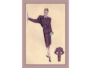 Buyenlarge - 07157-5CG28 - Smart Classic Suit With Raglan Sleeves 28x42 Giclee on Canvas