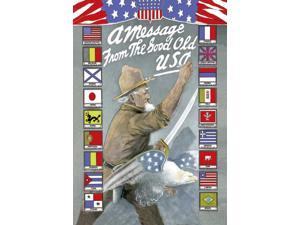 Buyenlarge - 03600-1CG28 - A Message from the Good Old USA 28x42 Giclee on Canvas