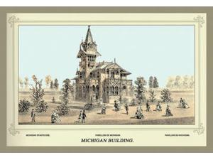 Buyenlarge - 17151-0CG28 - Centennial International Exhibition 1876 - Michigan Building 28x42 Giclee on Canvas