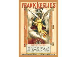 Buyenlarge - 09838-4CG28 - Frank Leslie's Illustrated Almanac:Angel Bell-Ringer 1882 28x42 Giclee on Canvas