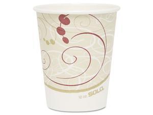 Solo Cup - 370SM-J8000 - Hot Cups, Symphony Design, 10oz, Beige, 1000/Carton