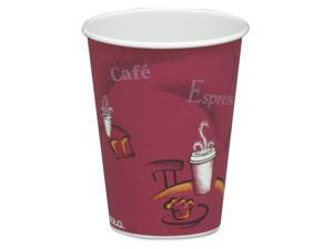 - 378SI - Bistro Design Hot Drink Cups, Paper, 8oz, Maroon, 50/Bag, 20 Bags/Carton