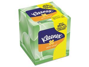 Kleenex 25836CT Anti-Viral Facial Tissue, 3-Ply, 68 Sheets/Box, 27 Boxes/Carton, 1 Carton