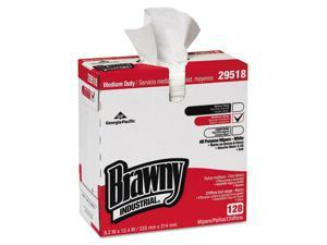 Georgia Pacific - 29518 - Brawny Ind. Airlaid Med-Duty Wipers, Cloth, 9 1/5 x 12 2/5, WE, 128/BX, 10 BX/CT