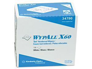 """Kimberly-Clark Wypall X60 Teri Reinforced Wipe126 / Box - 9"""" x 16.50"""" - White"""