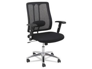 Alera EM Series EM4214 (ALEEM4214) Mesh Lumbar Chair, 26-5/8w x 24-7/8d x 38-5/8 to 41-5/8h, Black