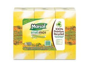 Marcal Paper - MAC 4034-36 - 100% Recycled Convenience Pack Facial Tissue, WH, 6 Boxes of 80/PK, 6 Packs/Ctn