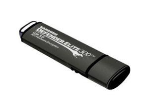Kanguru Defender Elite300 8GB FIPS 140-2 Certified, SuperSpeed USB 3.0 Flash Drive 256bit AES Encryption Model KDFE300-8G-PRO