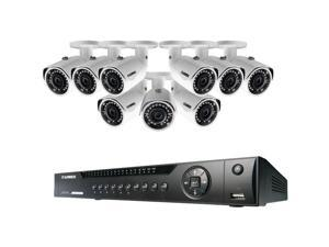 FLIR Systems - LNR416S3C9B - Lorex by FLIR LNR416S3C9B 16-Channel NVR with 9 3.0-Megapixel PoE IP Cameras