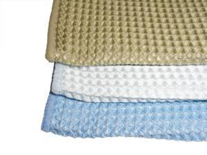 Atlas Microfiber Waffle Design Cleaning & Wiping Cloth BLUE  24-Pack