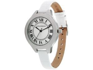 Hurlingham Harrow H-10424-C Women's Watch with White Leather Band