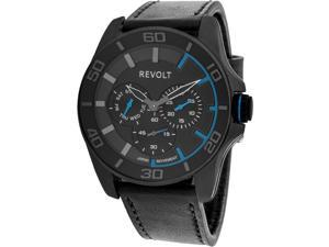 Revolt Wedge RT50325-B Men's Watch with Black Leather Band