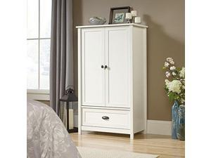 Sauder County Line Armoire Sw 419451 Soft White Finish